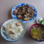 文佐食堂 - アサリバター定食