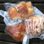 フレーバー - イカパン、胡桃パン、三色パン