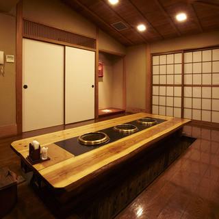 9つのゆったりとした完全個室。