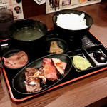 牛一筋 上野御徒町店 - 5種盛定食(500円)3/31で終了