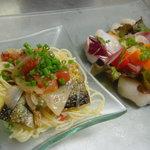 トゥールモンド - 焼き秋刀魚のカッペリーニと魚介のマリネ