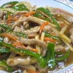 中華食堂一番館 - 「青椒肉絲丼」アップ
