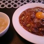 カントニーズレストラン ボン - 牛肉あんかけチャーハン 卵黄のせ