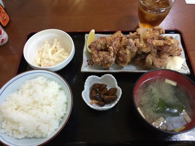 希・お食事喫茶 - とりから揚げ定食(ランチ)720円