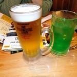 鳥貴族 - 生ビール&メロンソーダ