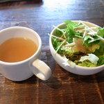 サブライム - ランチセットのサラダとスープ