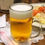 たるの店 山麓苑 - 生ビール