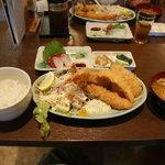 4953598 - おとくエビフライ定食(エビフライ二本)