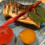 きん田 - (2014年6月)本カマスの焼き物 卵の黄身の西京漬け