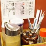 ラーメン大至 - つけ麺用調味料