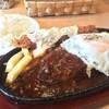 ハラペコキッチン - 料理写真:特製デミたまハンバーグ+エビフライ