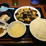 49537433 - 木くらげ、玉子、肉炒め定食(480円)