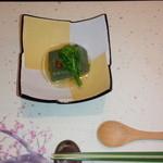 TAKU - お通し よもぎ豆腐