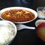49539463 - マーボ豆腐ライスセット。