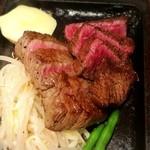 ステーキハウス牛和鹿 - サーロインWステーキ180g 3500円