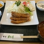 49543232 - メヒカリ竜田揚げ定食、しじみ味噌汁に変更