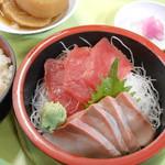 土浦魚市場 - 刺身定食2