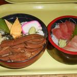 土浦魚市場 - 穴子丼刺身