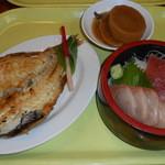 土浦魚市場 - 上焼き魚刺身
