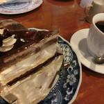 茶緒 - いちごとバナナのケーキセット 700円