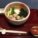 藤田そば処 - 料理写真:つくねうどん 全景
