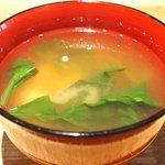 49555798 - 煮魚定食<限定10食> 1200円 の味噌汁