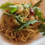 リストランテ・マリオ - 海老とルッコラのタリオリーニ 空豆のソース
