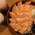 ととどん - 大とろサーモン丼(特盛)税込690円