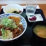 49560653 - 牛めし丼の朝定食  400円