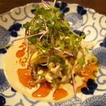 Bishokubisaiichigoichie - 淡路地鶏の蒸し鶏のよだれ鶏 780円