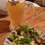 ネギッチン negi negi - 生ビールとポテサラ 2016.4