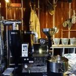 CLAMP COFFEE SARASA - 店内 焙煎器