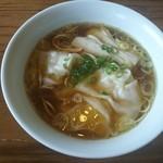 らーめん 三福 - 海老ワンタンメン (醤油)