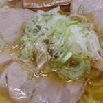 元祖一条流がんこ 西早稲田 - ネギには油を掛けてネギ油に 2016.4