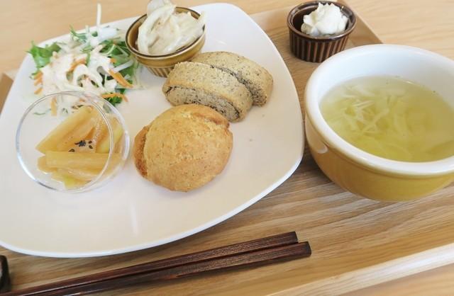 まめでのベジスイーツ&cafe - ホリディースコーンセット、豆乳クリーム付き