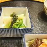 旬席 鈴江 - 筍、えんどう豆、アスパラ、タラの芽