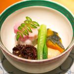 仁松庵 - イイダコの煮物。
