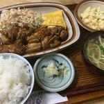 ななほし食堂 - チキン照焼き定食@650