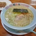 らーめん昭和屋 - 料理写真:そぼろ御飯セット(しょうゆこってり・細麺)