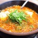 49575194 - スン豆腐(和牛すじ肉)のアップ