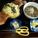 こだま食堂 - 二食丼セット(冷おろしそば)