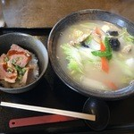 49587606 - 白菜ラーメン&ミニチャーシュー丼(H28.3.26)