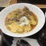 下町食堂中村橋 - 豚肉と長ねぎの卵とじ
