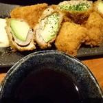 季節料理 新大阪 きらく - アボカドの肉巻き