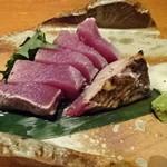 季節料理 新大阪 きらく - 初かつお塩タタキ