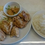 らんまん食堂 - 鶏の唐揚げ定食(塩)