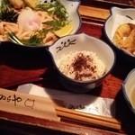 のらや - 1604_のらや(箕面)_明太子かまたまうどん(大盛り)+天ぷらセット@1,080円