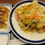 リンガーハット - 皿うどん餃子セット 820円