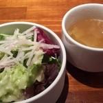 49593113 - サラダ、スープ