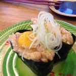 回転寿司 魚河岸 - 納豆うずら